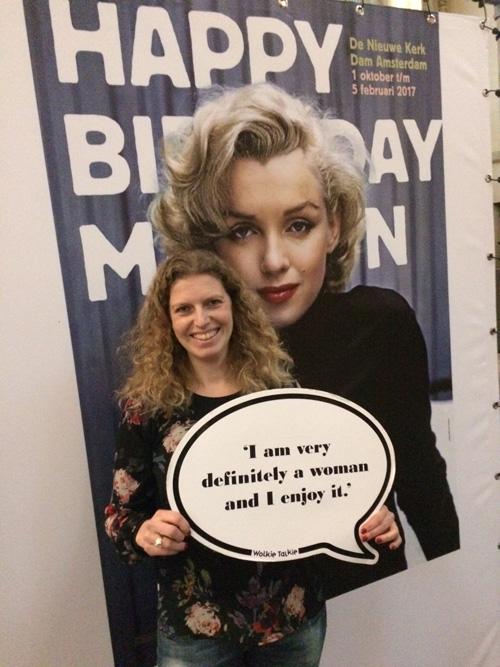 Op de foto met Marilyn hoort er natuurlijk ook bij!