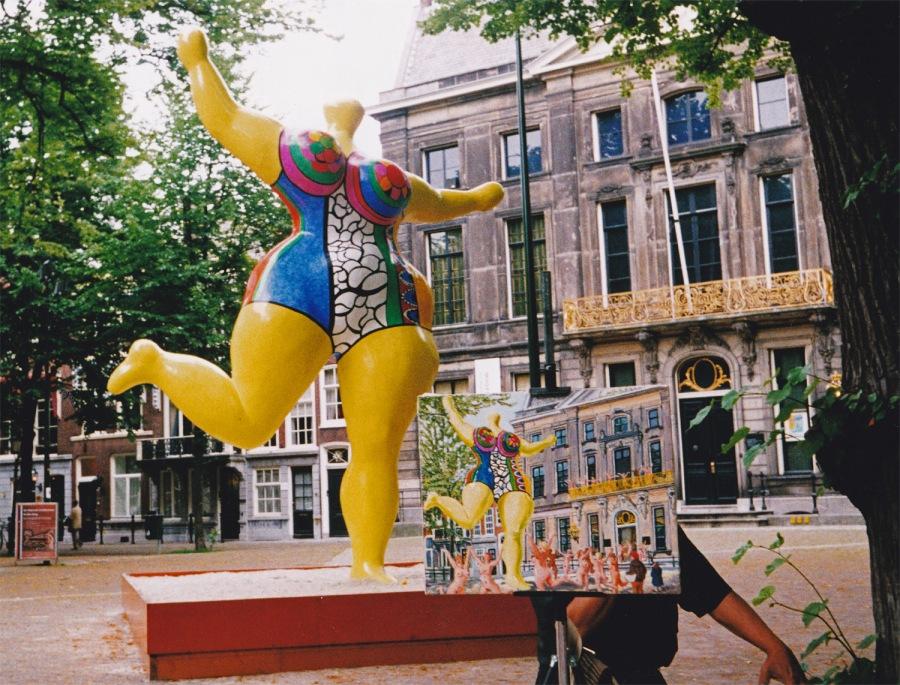 Nana van Niki de St. Phalle bij Escher in het Paleis noodde in 1998 ook anderen tot kunstuitingen