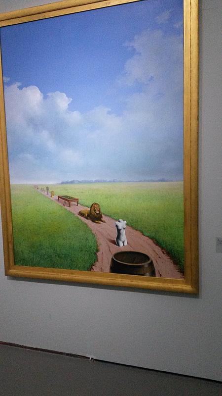La jeunesse illustrée van René Magritte op de expositie (foto auteur)