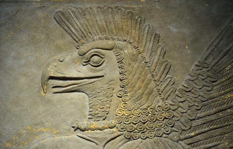 Reliëf van een godheid uit Nimrud (foto auteur)