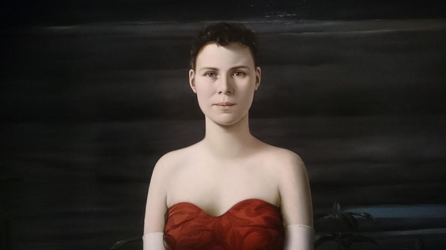 Fragment van Vrouwenportret (portret van H.M. Koch-de Geer)