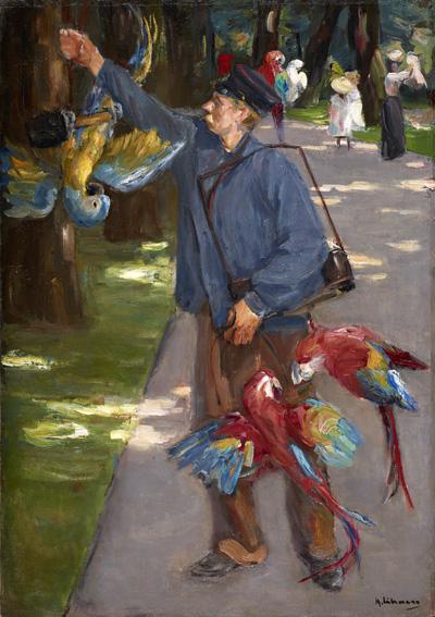 Max Liebermann (1847-1935), De papegaaienman, 1902, Museum Folkwang, Essen.