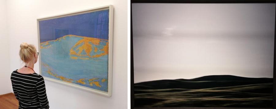 Duin volgens Mondriaan (uit het Guggenheim) en Vanfleteren