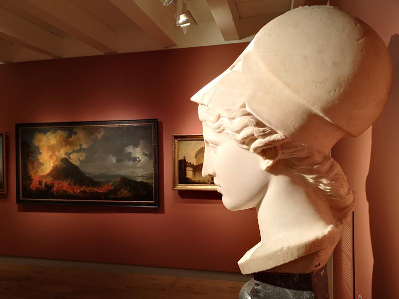 Toezien hoe de Vesuvius Pompeii verwoest