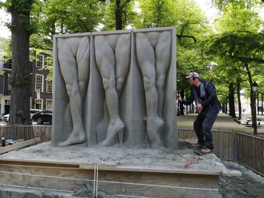 Zandsculptuur op het Lange Voorhout, 2019