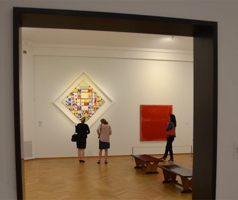 Rothko en Mondriaan (foto auteur)