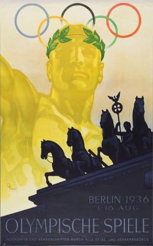 Poster voor Olympische Spelen in Berlijn, 1936. (Münchner Stadtmuseum, Sammlung Reklamekunst)