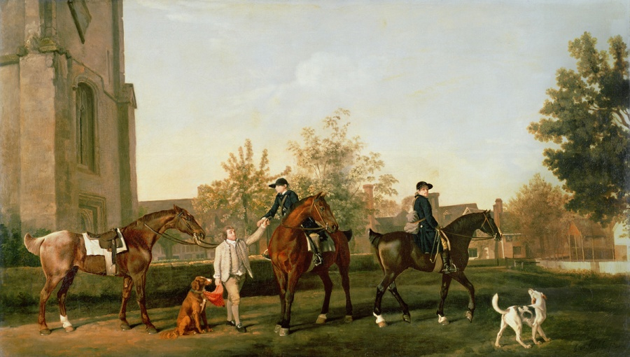 George Stubbs, Lord Torringtons jachtpersoneel vertrekt vanuit Southill, Bedfordshire